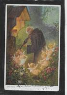 AK 0368  Schön , Hans - Singende Engerl Und Pater Mit Geige / Künstlerkarte Um 1910-20 - Engel