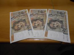 FRANCE   -  100  FRANCS  -   3   OLD    BILLETS  LOT - 1962-1997 ''Francs''