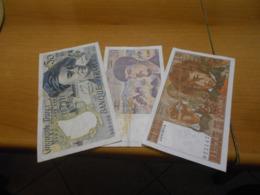 FRANCE      3   OLD    BILLETS  LOT - 1962-1997 ''Francs''