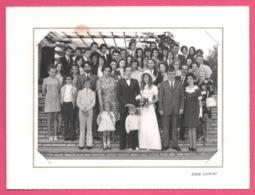 Photo STUDIO LAURENT - Photo De Groupe - Famille Et Amis Des Mariés - Mariée Avec Bouquet De Fleurs - Mariage - Personnes Anonymes