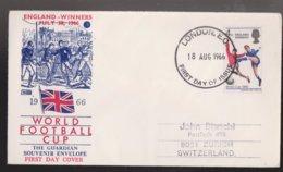 GREAT BRITAIN 1966 World Cup England Wins On FDC - 1952-.... (Elizabeth II)
