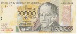 BILLETE DE VENEZUELA DE 20000 BOLIVARES DEL AÑO 2001 (BANK NOTE) - Venezuela