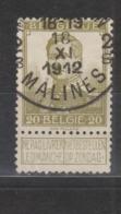 COB 112 Oblitération Centrale MECHELEN 2B - 1912 Pellens