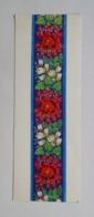 Bookmark-postcard Marque-page Carte Postale Embroidery Broderie Flowers Fleurs 1965 1 - Marcapáginas