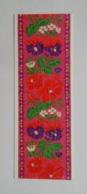 Bookmark-postcard Marque-page Carte Postale Embroidery Broderie Flowers Fleurs 1965 3 - Marcapáginas