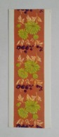 Bookmark-postcard Marque-page Carte Postale Embroidery Broderie Flowers Fleurs 1965 4 - Marcapáginas