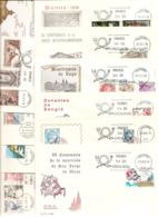 1976-AÑO COMPLETO ED. 2306 A  2380 ( 34 SOBRES )- -EN S.P.D. DEL SERVICIO FILATELICO DE CORREOS ( S.F.C. ) - FDC