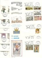 1977-AÑO COMPLETO ED. 2381 A 2450 (32 SOBRES) EN S.P.D. DEL SERVICIO FILATELICO DE CORREOS  (S.F.C. ) - FDC
