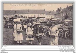 Cpa Réf-JPS-1194 ( Dép-08 à ROCQUIGNY ) Le Pélérinage De ST-CHISTOPHE  (  Vente  Insignes  Le 25 Juillet 1913) - Altri Comuni