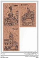6 Cp En Liege Réf-JP-951 ( Dép 34 )    Eglise_ Le Jardin_ La Statue_le Pont _ La Cathédrale_ Et Le Théatr - Cartes Postales