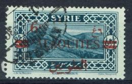 Alaouites (French Syria), Overprint 6pi/2pi50, Qalamun Mountains, 1926, VFU - Oblitérés