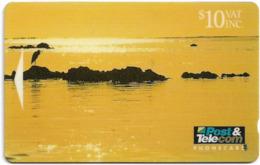 Fiji - Tel. Fiji - 4th Issue - Sunset At Korotogo - 02FJD - 1993, 10$, 10.000ex, Used - Fiji