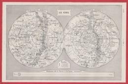 Carte Du Ciel. Constellation. Recto-verso. Larousse 1931. - Documentos Históricos