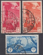 TRIPOLITANIA, COLONIA ITALIANA - 1931/1932 - Lotto Di 3 Valori Usati: Yvert Posta Aerea 8, 9 E 11. - Tripolitania