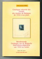 972/25 -- LIVRE BILINGUE - Essais Des Timbres De Belgique De 1910 à Nos Jours , Par Jacques Stes , 2001 , 271 Pages - - Fachliteratur