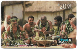 Fiji - Tel. Fiji - Fijian Culture - Traditional Yaqona Ceremony - 07FJE - 1994, 20$, 19.400ex, Used - Fiji