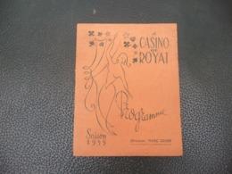 Programme & Cartes Visite Publicité 1955 Casino De Royat - BOULE - ROULETTE - BACCARA & Autres - LE PARIOU - Programma's