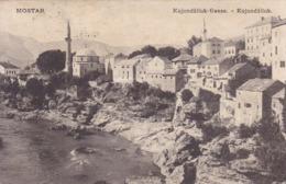 Mostar * Kujundžiluk, Kujundžiluk Gasse, Fluss, Ufer * Bosnien Herzegowina * AK2094 - Bosnië En Herzegovina