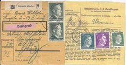 DR 1942, Pulsnitz (Sachs), Paketkarte M. DRINGEND Frankatur. #2579 - Deutschland