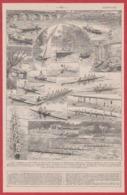 Canotage. Canot. Canoë. Aviron ...  Illustration Maurice Dessertenne. Larousse 1931. - Documenti Storici