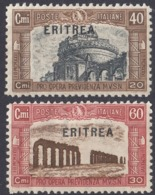 ERITREA, COLONIA ITALIANA - 1927 - Lotto Di 2 Valori Nuovi MH: Yvert 113 E 114. - Eritrea