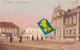 JEMAPPES - Place Communale - Carte Colorée - Mons