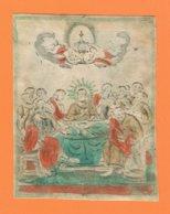 Holy Card Perkament Parchemin Vélin Pergamena (8,5 X 11cm) Santini Image Pieuse Religieuse Jesus Jezus - Santini