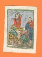 Holy Card Perkament Parchemin Vélin Pergamena (6,5 X 9cm) Santini Image Pieuse Religieuse Anna Maria Buset - Santini
