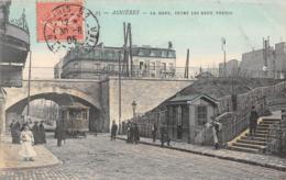 ASNIERES - La Gare, Entre Les Deux Voutes - Tramway - Asnieres Sur Seine