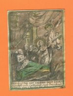Holy Card Perkament Parchemin Vélin Pergamena (6,5 X 9cm) Santini Image Pieuse Religieuse Antwerpen 1693 Kercke S.Jacops - Santini