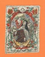 Holy Card Perkament Parchemin Vélin Pergamena (6,5 X 9cm) Santini Image Pieuse Religieuse S. Theresia - Santini