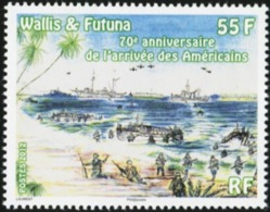WALLIS AND FUTUNA 2012 70th Anniversary Of The Arrival Of The American Soldiers Ships World War II MNH - WW2