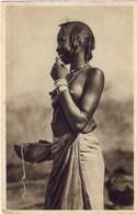 1937-Eritrea Cartolina Costumi Africa Orientale Diretta In Italia Affrancata 10c. Soggetti Africani Annullo Dessie' Amar - Costumes