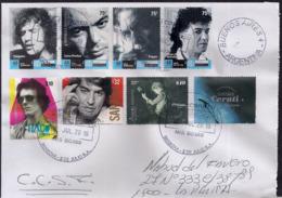 Argentina - 2019 - Lettre - Musiciens Et Chanteurs Célèbres D'Argentine - Rock & Pop - Briefe U. Dokumente