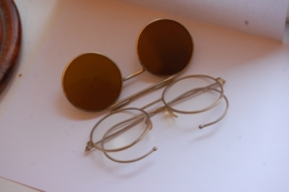 Lunettes Vintage Avec Soleil Articulées - Zonnebrillen