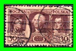 POLONIA  SELLO AÑO 1932  THE 200th ANNIVERSARY OF THE OF GEORGE WASHINGTON. 1746-1817 - 1919-1939 Republic
