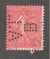Perforé/perfin/lochung France No 199 BAL Banque D'Alsace Et De Lorraine (17) - France