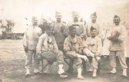 Militaire Cpa Carte Photo Souvenir Du Camp De Bois L' Eveque Aout 1911 Groupe De Soldats - Régiments