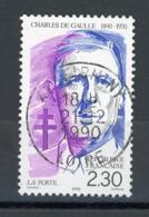 "FRANCE - CHARLES DE GAULLE - N° Yvert 2634 Obli. RONDE DE ""FIRMINY 1990"" - Used Stamps"