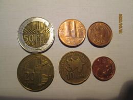 AZERBAIJAN 50 20 10 5 3 1 Qepik 6 Coins - Azerbaïjan