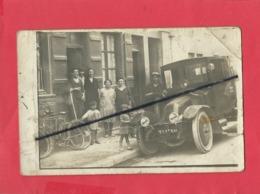 Carte Photo En Mauvais état - Camion Ancien Immatriculé Dans La Haute Marne - France
