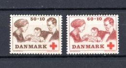 DANMARK :  CROCE  ROSSA E Famiglia Reale  -  2 Val.  MNH**  11.12.1969 - Danimarca