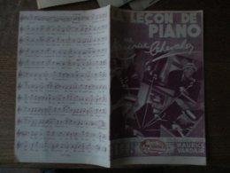 LA LECON DE PIANO PAR MAURICE CHEVALIER PAROLES DE MAURICE VAUDER & CHARLYS MUSIQUE DE HENRI BETTI - Spartiti