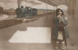 CPA – TRAIN - Fillette - Autres