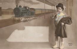 CPA – TRAIN - Garçon - Fancy Cards