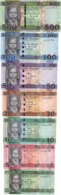 South Sudan - Set 7 Banknotes 1 5 10 20 50 100 500 Pounds 2011 - 2018 UNC Lemberg-Zp - South Sudan