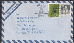 Deustche Bundespost - 1969 - Brief -> Argentinien - Ghandi - Mahatma Gandhi