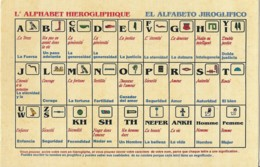 Carte Postale De L'Alphabet Hierogliphique - Zonder Classificatie