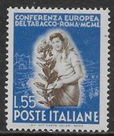 Italia Italy 1950 Tabacco L55 Sa N.631 Nuovo MH * - 1946-60: Nieuw/plakker