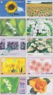 LOT De 50 Cartes Japon DIFFERENTES - FLEUR FLEURS - Japan FLOWER Prepaid Cards - BLUME Blumen Karten - 2478 - Télécartes